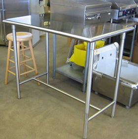 Stainless Steel Tables Work Tables Equipment Stands - Tall stainless steel table