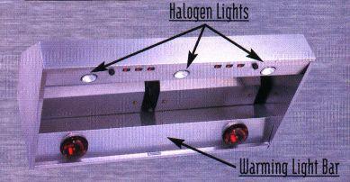 Halogen Lighting And Warming Lamp Bar