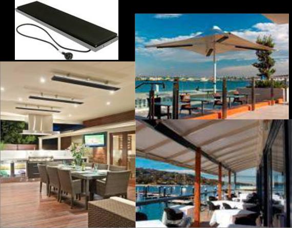 Heatstrip Heaters, Energy Efficient Patio Heaters For Indoor And Outdoor Use