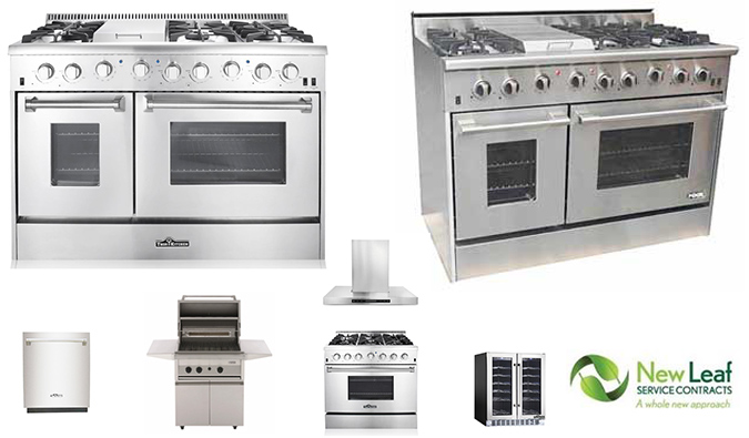 Extended Warranties for all Residential Kitchen Cooking and Refrigeration Equipment