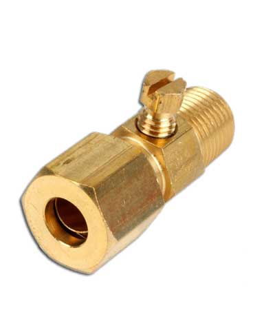 Pilot Valve, Single straight inline, brass, 1/8 x 3/16