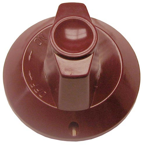 Knob, Flat Up on D-stem (dark red color)