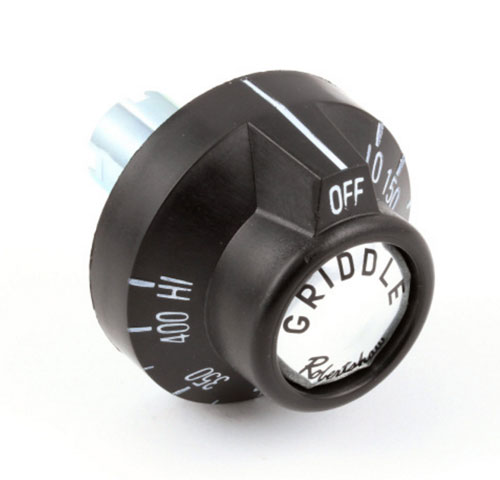 Dial for Thermostat on Griddles, Black (OFF-LOW-150-400-HIGH)