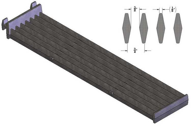 Grate for SCB or VCCB, Cast Diamond Grate with 7 bar configuration
