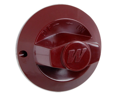 Knob (M), for Wolf Challenger Ranges, Broilers, etc. (Dark Red)
