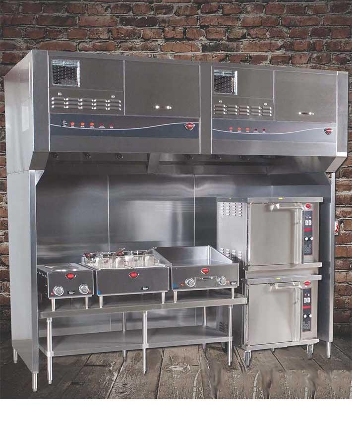 Restaurant Kitchen Ventilation System: Universal Ventless Hood, 96 Inch Model # WVU-96